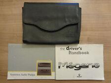 Renault Megane Owners Handbook/Manual and Wallet 99-02