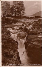 BRAEMAR( Scotland) :  The Salmon Leap at the Linn of Dee,Near Braemar RP-WHITE