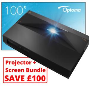 "OPTOMA UHZ65UST 4K Laser Ultra Short Throw Projector + OPTOMA ALR101 100"" Screen"