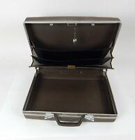 Vintage Samsonite Brown Hard Shell Briefcase w/Key