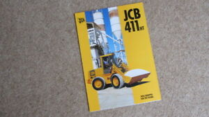 JCB 411 HT WHEELED LOADING SHOVEL BROCHURE 9999/4174  3/96