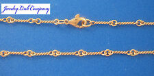 "14K Solid Rose Gold Handmade Dogbone Chain 6.8grams 3mm 16"" LG"