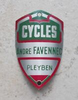 Vintage Cycles ANDRE FAVENNEC France Bicycle Head Badge Antique Bike French