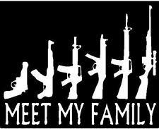 "GUN FAMILY DECAL  WINDOW BUMPER STICKER   7""  X  5.5""  MANY COLORS"