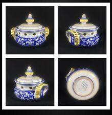 Pre-owned Cama Deruta Antico Italian Blue Floral Kitchen Garlic Jar