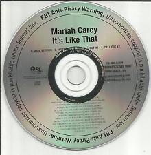 MARIAH CAREY It's Like That RARE INSTRUMENTAL PROMO DJ CD Single USA ISLR 16251