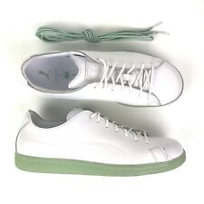 Puma Daily Paper Match Raw Edge Size 8.5 Mens White Leather Extra Shoe Laces NEW