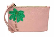 NWT Kate Spade On Purpose Embellished Palm Mini Leather Rosy Wristlet $128