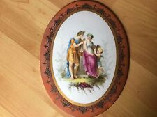 Antique Painting KPM? On Porcelain  Oval Plate