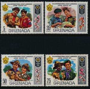 Grenada 409-12 MNH Scouts, Flowers, Jamboree