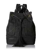 Cynthia Vincent Cass Backpack Diamond Perforated Leather NWT MSRP $399 REDUCED !