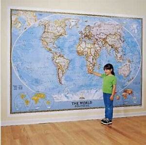 "National Geographic RE00622007 World Classic - Mural Map 110"" x 76"" MSRP $99"