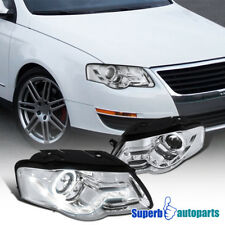 For 2006-2010 Passat Chorme Halo Projector Headlights+R8 Sty SMD LED DRL Lamps