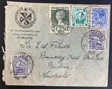 1925 Nijmegen Netherlands St Dominicus College Cover To Brisbane Australia
