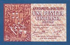 AJUNTAMENT DE BARCELONA -- 1,50 PESETAS ( 1937 ) -- EBC -- 3ª EMISION -- SERIE B