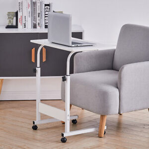Adjustable Height Sofa Bed Side End Coffee Table on Wheels Laptop Notebook Desk