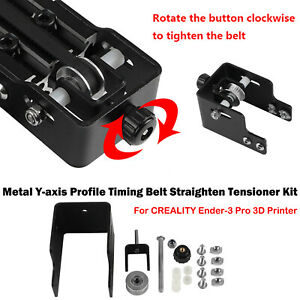 For CREALITY Ender-3 Pro 3D Printer Metal Y-axis Belt Tensioner Kit Upgraded Set