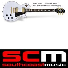 EPIPHONE LES PAUL CUSTOM PRO ARCTIC WHITE ELECTRIC GUITAR BRAND NEW + WARRANTY