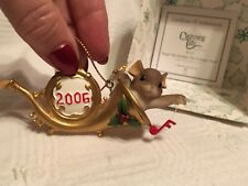 """Charming Tails """"Begin The Holiday On A Happy Note"""" Christmas Ornament"""