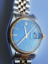 RARE VINTAGE ROLEX OYSTER PERPETUAL DATE 2 TONE GOLD MENS WATCH STUNNING