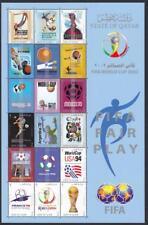 Qatar 959 2002 World cup Soccer Champ. Japan Korea Sheet MINT NH complete set