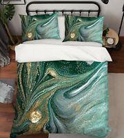 3D Dark Green Golden Brilliant KEP9419 Bed Pillowcases Quilt Duvet Cover Kay