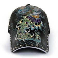 New Women/Men Punk Rock Rivet Hip Hop Baseball Hat Peacock Tattoo Adjustable Cap