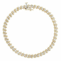 "1.98ctw Round Brilliant Diamond Bracelet 6 3/4"" - 14k Yellow Gold Tennis"