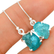 Neon Blue Apatite 925 Sterling Silver Earring Jewelry BE19135