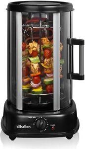 Schallen Electric 1500W 360° Rotating 21L Rotisserie Grill Kebabs Skewers Roasts