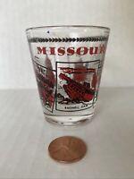 Missouri State Souvenir Shot Glass State Bird Flower Bagnell Dam Capitol Caves