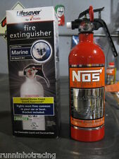 NEW Fire Extinguisher Look A Like Red NOS NITROUS BOTTLE DECAL NX ZEX Rat Rod