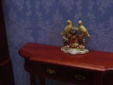 Casa De Muñecas 1/12 PINTADO A MANO Ornamento de Phoenix metal canarios