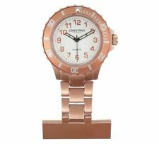Constant Nurses' Rose Coloured Fob Sports Style Watch With White Dial NEW_UK