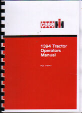 "CASE IH ""1394"" Tractor Operator Instruction Manual"