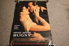 BUGSY vintage VIDEO movie poster MAFIA warren beatty ANNETTE BENING 27X40
