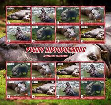 Liberia-2016-WWF-pygmy hippopotamus sheetlet of 16