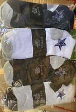 (4) 3 Pack (1 Dozen)Men Ankle Socks With Dallas Cowboy Star
