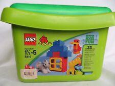 LEGO Duplo 5416 Green Brick Box Tub Preschool Cat Complete Building 33 pieces