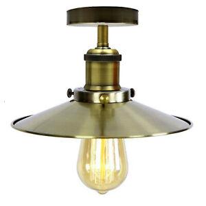 Ceiling Light Retro Vintage Industrial Flush Mount Ceiling Light Lamp Fittings