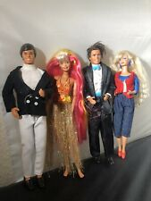 Vintage Barbie & Ken Dolls  1990's X4