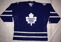 Vintage Toronto Maple Leafs BLUE BLANK CCM XXL/2XL Hockey Jersey TML Shoulders