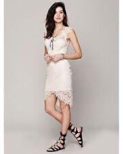 New $98 Free People Peek-A-Boo Slip Dress SAND Small