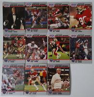 1990 Pro Set Super Bowl Supermen 49ers Niners Team Set 11 Football Cards