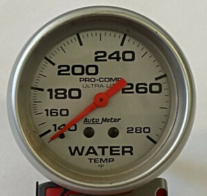 Vintage Auto Meter Pro Comp Ultra Lite Water Temp Gauge
