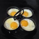 Nonstick 4-Piece Egg Pancake Ring Set 995 Nonstick Removable Rings New Black