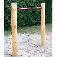 LoggyLand massiv Reck Turnstange Reckstange Turnreck Lärche Holz Ø 12 cm GYM I
