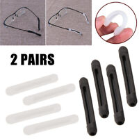 2Pairs  Silicone Anti-Slip Eyeglass Glasses Ear Hook Tips Temple Grip Holder USA