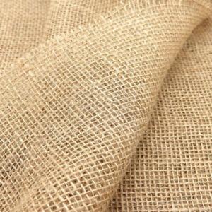 158X100CM Toile de Jute Tissu DIY Couture Loisirs Créatifs Sac Nappe Home Décor