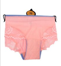 New Ladies Brazilian Brief With Deep Lace Detail Peach Size 8 10 14 16 7 18